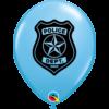 Kék rendőrségi héliumos lufi
