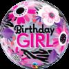 Birthday girl szülinapi bubble héliumos lufi