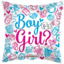 Fiú vagy lány baba kellékes héliumos lufi
