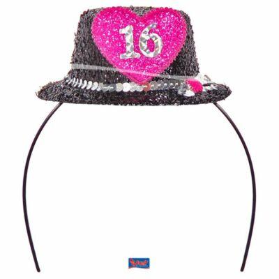 16. szülinapra mini party kalap