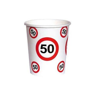 50. szülinapi sebességkorlátozó papír pohár 6 db