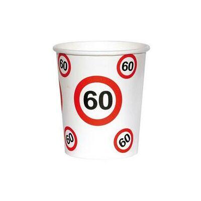 60. szülinapi sebességkorlátozó papír pohár 6 db