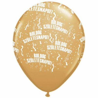 Arany boldog születésnapot lufi