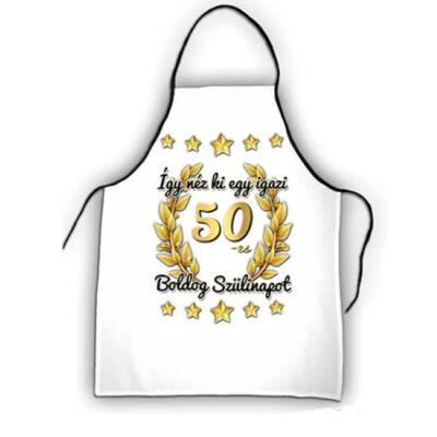 50 szülinapi kötény arany csillagos