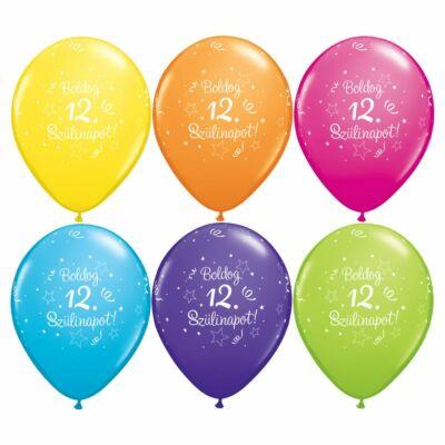 Boldog 12. szülinapot lufi 5 db