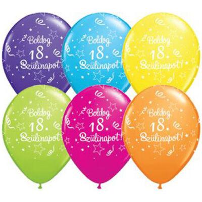 Boldog 18. szülinapot héliumos lufi