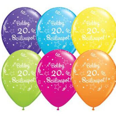 Boldog 20. szülinapot héliumos lufi