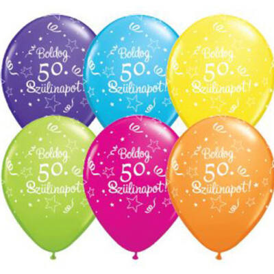 Boldog 50. szülinapot héliumos lufi