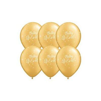 Csillagos arany Boldog Új Évet héliumos lufi