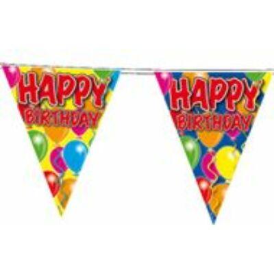 Happy birthday zászló füzér
