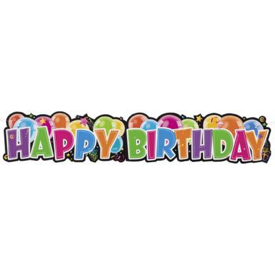 Happy birthday felirat