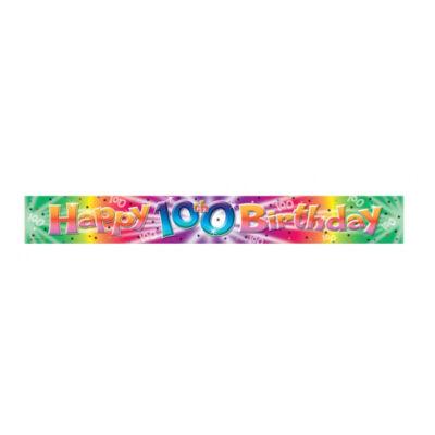 Happy 100 Birthday felirat
