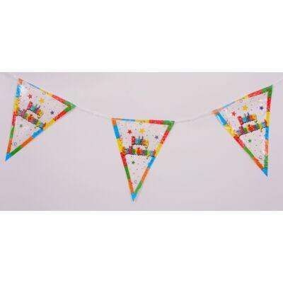 Boldog születésnapot zászló füzér
