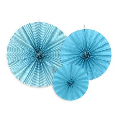 Kék legyező szett 3 db