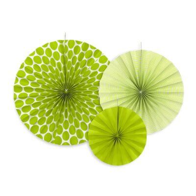 Zöld legyező szett 3 db