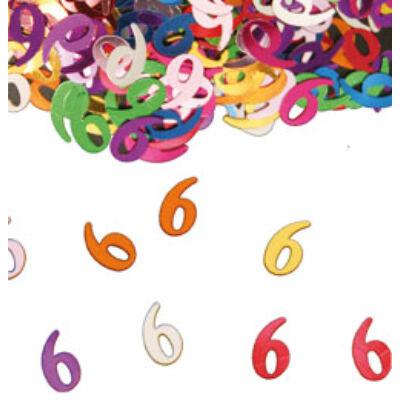 6. szülinapi konfetti