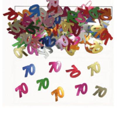70. szülinapi konfetti