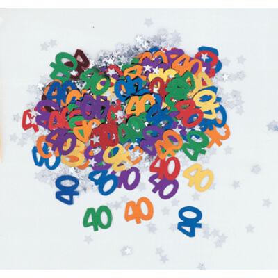 40. szülinapi konfetti