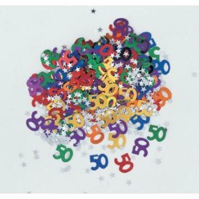 50. szülinapi konfetti