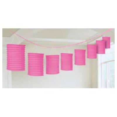 Pink lampion füzér