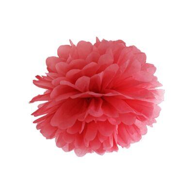 Piros selyempapír pompom 35 cm