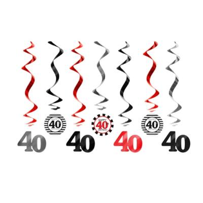 40. szülinapra belógatós függő dísz