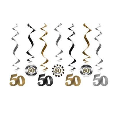50. szülinapra belógatós függő dísz