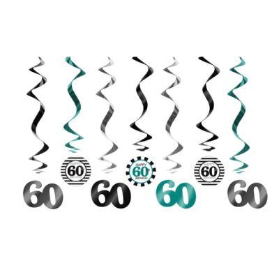 60. szülinapra belógatós függő dísz
