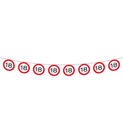 18. szülinapi sebességkorlátozó tábla füzér