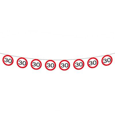 30. szülinapi sebességkorlátozó tábla füzér