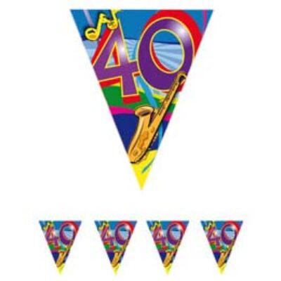 40. szülinapi parti zászló füzér