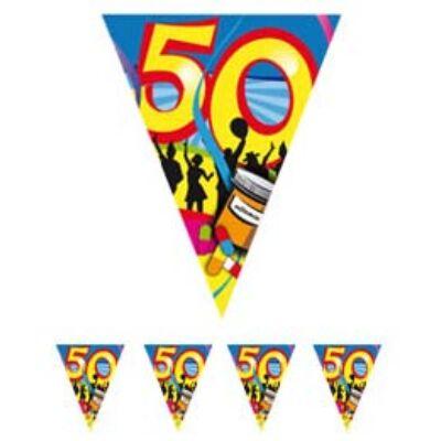 50. szülinapi parti zászló füzér