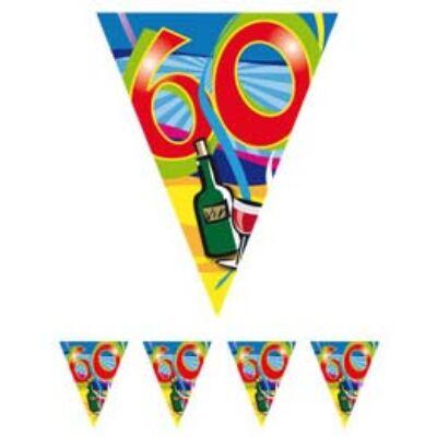 60. szülinapi parti zászló füzér