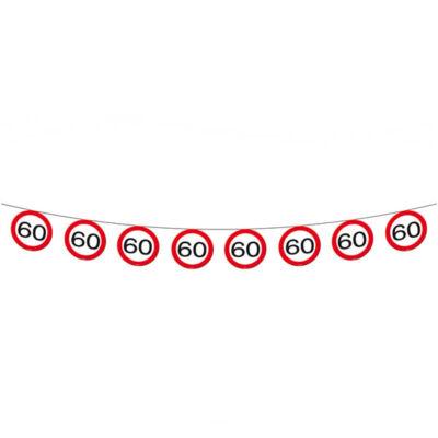 60. szülinapi sebességkorlátozó tábla füzér