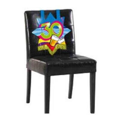 30. szülinapra székdekoráció