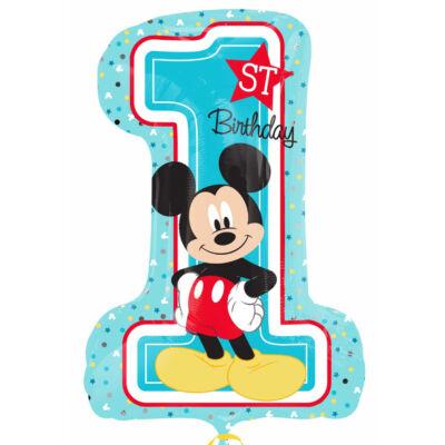 Mickey egeres első szülinapi számos héliumos lufi