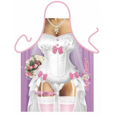 Szexi esküvői ruha kötény