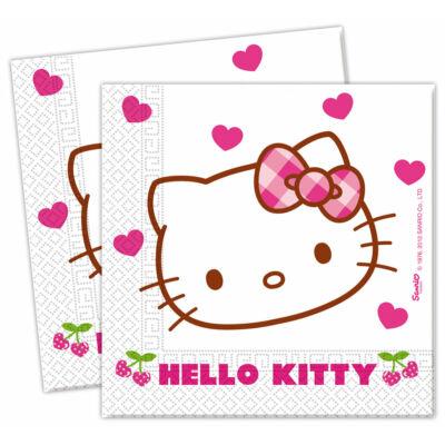 Hello kitty szíves szalvéta