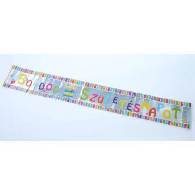 Színes boldog születésnapot fólia felirat