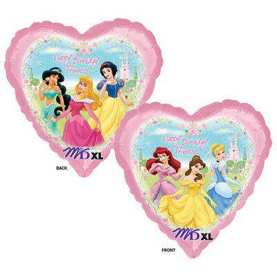 Szíves szülinapi hercegnők héliumos lufi