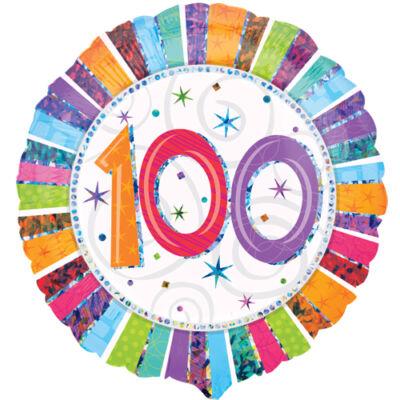 100 színes csillagos héliumos lufi