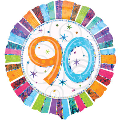 90 színes csillagos héliumos lufi