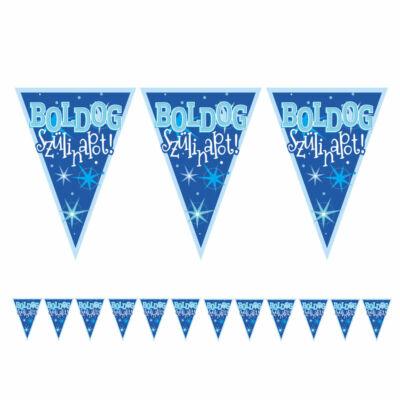 Kék boldog szülinapot zászló füzér 5 m