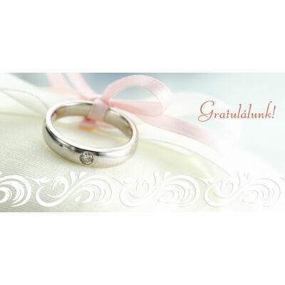 Esküvői képeslap nászajándéknak gyűrűs