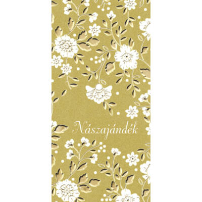 Esküvői képeslap nászajándéknak virágmintás