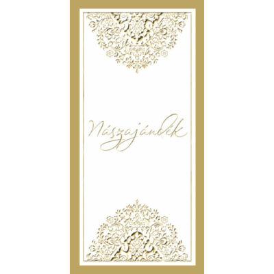Esküvői képeslap nászajándéknak motívumos