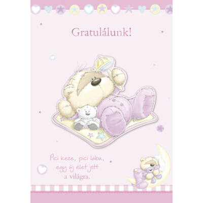 Kislány babaszületésre képeslap