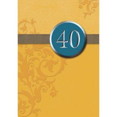 40. szülinapi képeslap