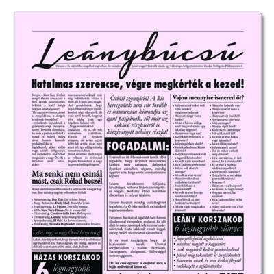 Lánybúcsú újság