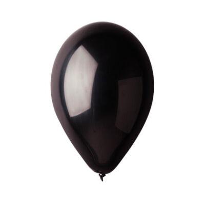 Fekete áttetsző lufi 28 cm